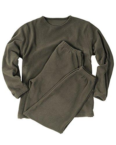 Armee Lange Unterhose (Mil-Tec BW Lange Thermo Unterwäsche Thermofleece Unterhemd und Unterhose Winter Thermounterwäsche Oliv XS-3XL (3XL))
