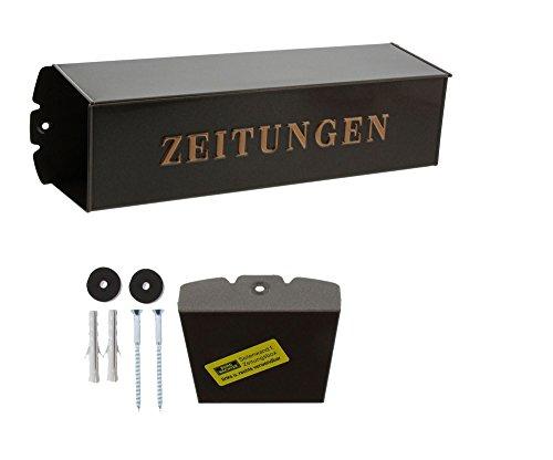 BURG-WÄCHTER, Zeitungsbox mit geprägeter Schrift, Metall, 808 K, Kupfermetallic - 6