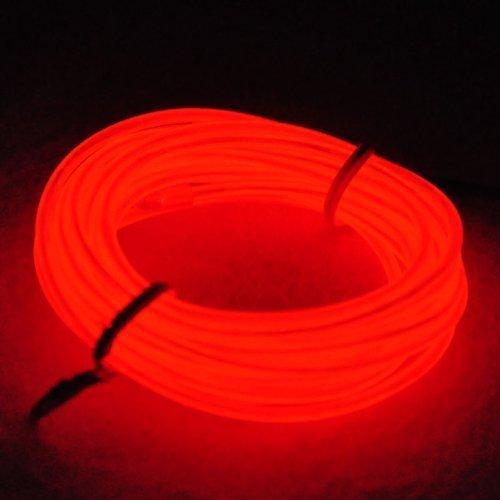 5 M, EL Draht Neon, Glowing Leuchtet Electroluminescent Beleuchtung Licht Mit Batterie Trafo, Nacht Aktivitäten, Weihnachten, Nacht Party, Kostüm Konzert ()