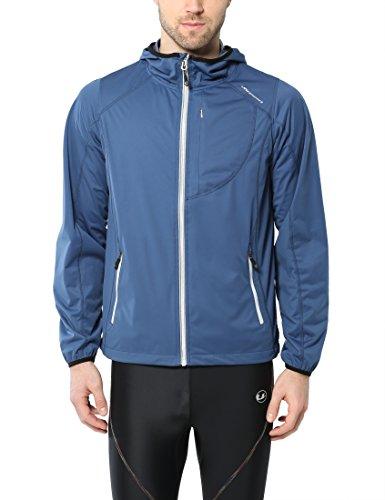 Ultrasport Herren Multi-Funktionsjacke Endy Ultraflow 3.000, ideale Laufjacke, Blau, 2XL