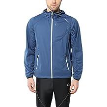 Ultrasport Chaqueta multifuncional de hombre Endy con Ultraflow 3.000, ligera y transpirable; por este motivo, ideal como chaqueta de correr, de entrenamiento o de ciclismo, impermeable y resistente al viento