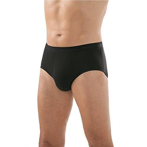 Comazo Herren Slip - Unterhose mit Eingriff - Mit Soft-Gummibund - Atmungsaktive Slips - Comazo Black - Schwarz - Gr. 7 (XL)