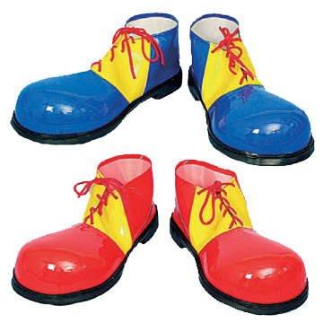 PARTY DISCOUNT Clown-Schuhe, sortierte Farben, -