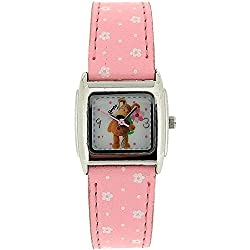 Boofle Analogue Ladies White Dial & Pink PU Strap Watch BF2008