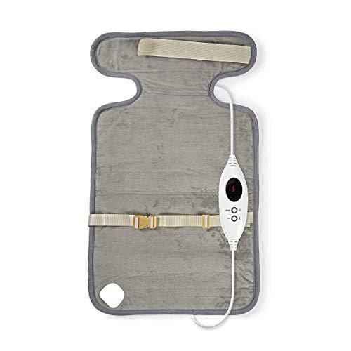 TronicXL Heizkissen Rücken Kissen 6 Heizstufen Digitale Steuerung Überhitzungsschutz Senioren für Entspannung Temperaturanzeige Nackenkissen Wärmekissen Wärmedecke Rheumadecke Rückenschmerzen Rheuma -