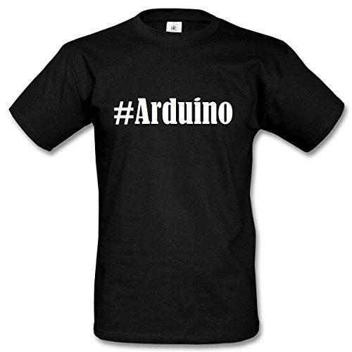 T-Shirt #Arduino Hashtag Raute für Damen Herren und Kinder ... in der Farbe Schwarz Schwarz