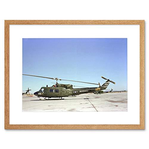MILITARY AIR CRAFT CHOPPER MARINE BELL UH1N HUEY HELICOPTER ART PRINT B12X7607 - Air-chopper