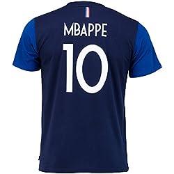 Equipe de FRANCE de football T-Shirt FFF - Kylian MBAPPE - Collection Officielle Taille Enfant garçon 8 Ans