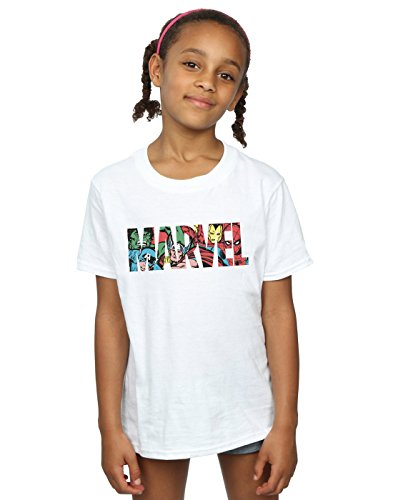 Marvel Comics Girls Logo Character Infill T-Shirt