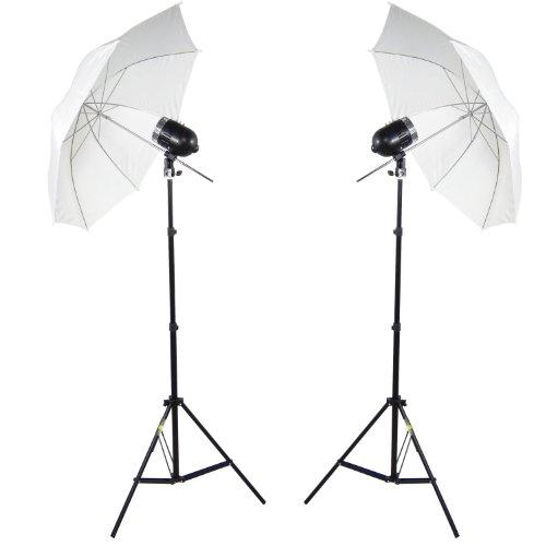 DynaSun 2x SDW80Professional Photo Studio Blitzauslöser Kit mit Flash Head Unit Glühbirne, Halterung, Regenschirm, Ständer und Tasche Monolight-flash-kit