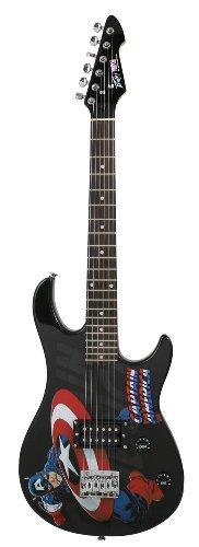 Peavey 03012340 Marvel Captain America Rockmaster - Guitarra eléctrica (tamaño 3/4)