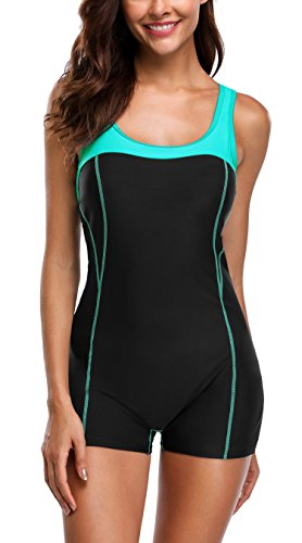 Attraco Women's One Piece Swimming Costume Athletic Boyleg Swimwear Raceback Swimsuit Bathing Suit