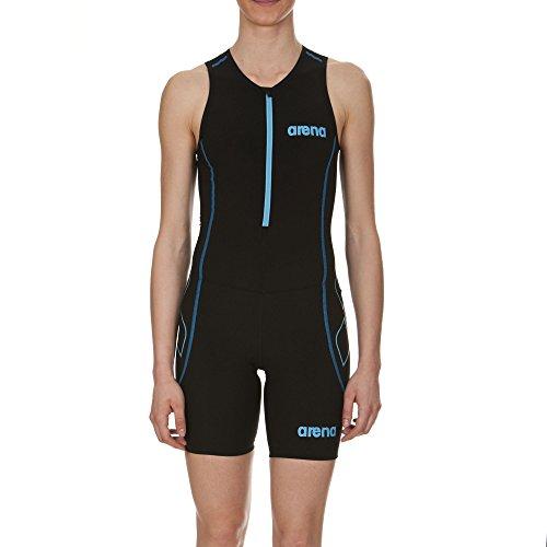 arena Damen Triathlon Einteiler Powerskin ST Frontreißverschluss Black/Turquoise