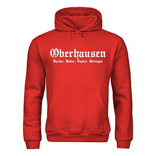 MDMA Kapuzensweatshirt Ahlen Harder, Better, Faster, Stronger mdma-h00311-85 Textil red / Motiv weiss Gr. XXL