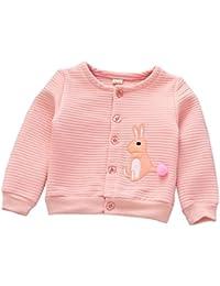Navidad Abrigo para bebé niña niño , Yannerr invierno Conejo chaqueta sudadera capa outwear gruesa manga larga caliente O-cuello Cardigan ropa