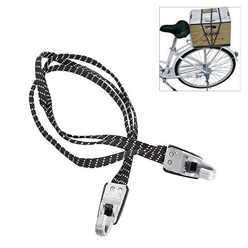 Volwco Fahrrad Elastische Haken Seil, einziehbare Motorrad-Bandage Gepäckgurte Koffer Band Spanngurt Rückholbänder mit Kunststoffhaken