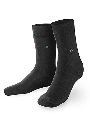 4 Paar Herren Socken glatte Struktur 100/% Baumwolle schwarz 39 bis 46