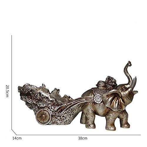 Rfsbqlcs Weinhalter - Elephant Porzellan Weinflaschenhalter Küchentisch Dekor Home Interior Dekorationen,Gold