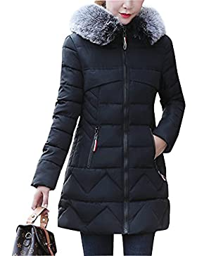 Mujer Abrigo Con Capucha Chaqueta Gruesa Invierno Mantener Caliente Jacket