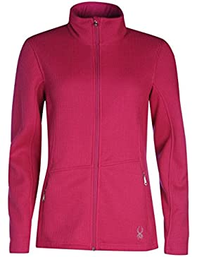 Spyder Mujer Ladies Endure Top Full Zip Manga Larga Base Layer Sport Chaqueta