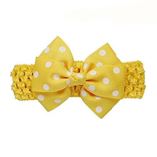 Stirnbänder Longra Mädchen die Vergoldung Stirnbänder Bowknot Haarschmuck für Mädchen Kinder Haarband (0-4 Jahre ) (Yellow)