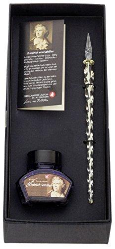 lauscha-glaskunst-glasfeder-mit-tintenfass-im-geschenkset-schiller-variierende-designs