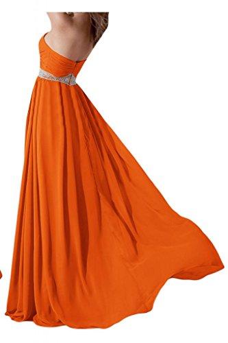 Toscane mariée originale forme longue de soirée en chiffon abendkleider promkleider forme de boule Orange - Orange