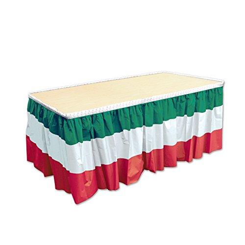 (Beistle b52170-rwg Italienischer rot, weiß& grün Tisch Sockelleiste)