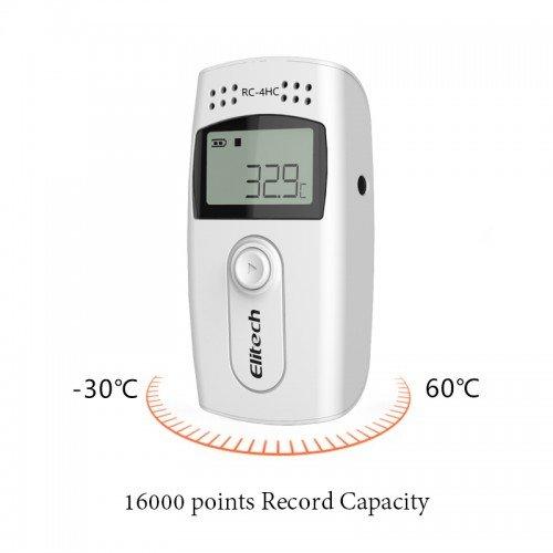 Elitech STC-1000nouveaux écrans LCD Température/d'humidité relative Enregistreur de données Rc-4hc avec valeurs de max/min pour 16000Capacité de données