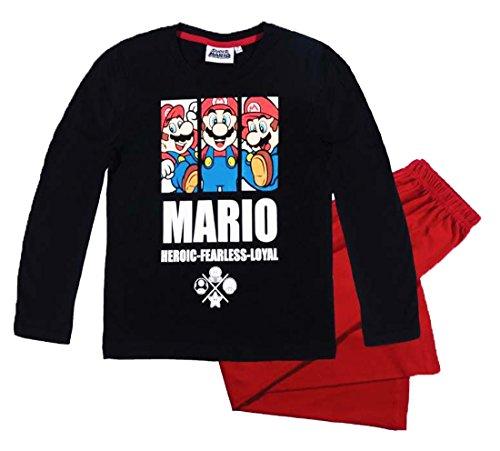 Mario Bros -  Pigiama due pezzi  - ragazzo rosso 6 Anni