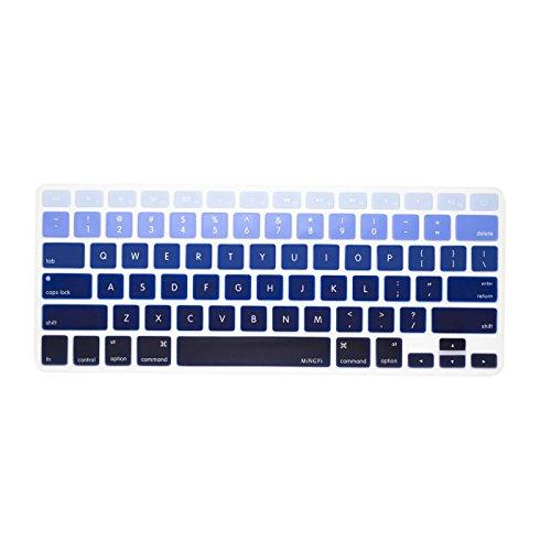 """MiNGFi English Inglese QWERTY Copritastiera silicone coperchio della tastiera per MacBook Pro 13"""" 15"""" 17"""" Aluminum Unibody and MacBook Air 13"""" USA Layout - blue gradiente"""