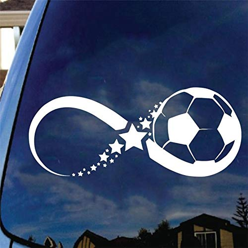 Fengdp Little Boy Football Player Aufkleber Sport Fußball Auto Aufkleber Helme Kinderzimmer Name Poster Vinyl Wandtattoos Fußball Aufkleber 24 * 58 cm