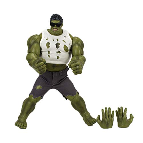 WYZBD Spielzeugmodell Avengers Hulk Dressing Sonnenbrille Hand Ausziehen Puppe Modell Dekoration Spielzeug