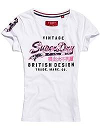 Amazon.fr   superdry femme - T-shirts, tops et chemisiers   Femme ... 5aa4e277037f