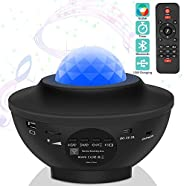 Ganeed Laser Star Projector,LED Night Light Projector with Nebula Cloud,3 in 1 Sky Ocean Wave Projection with