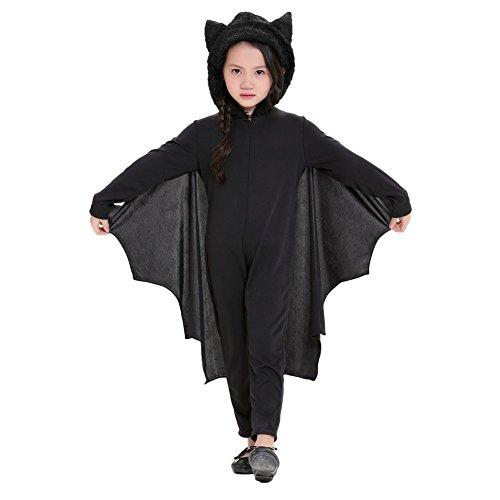 Trick Oder Für Kinder Treat Kostüm (Halloween Kostüm Kinder Cospaly Maskerade Kostüm Kleidung Schläger Fledermaus Kostüm mit Handschuhe)