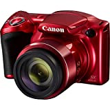 Canon PowerShot SX420 is 20MP Red Digital Camera 32GB Card Bundle Includes Camera, 32GB Memory Card, Reader, Wallet, Case, Mini Tripod, Screen Protectors, Cleaning Kit and Beach Camera Cloth