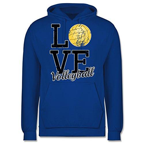 Volleyball - Love Volleyball - Männer Premium Kapuzenpullover / Hoodie Royalblau