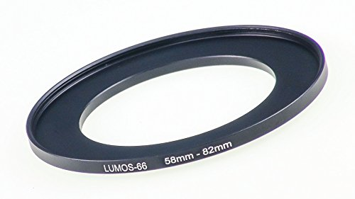 LUMOS Step up Adapter Ring Filteradapter 58-82 mm | Metall Adapterring von Kamera Objektiv mit 58mm Filtergewinde auf 82mm Zubehör Filter 58 Mm Adapter
