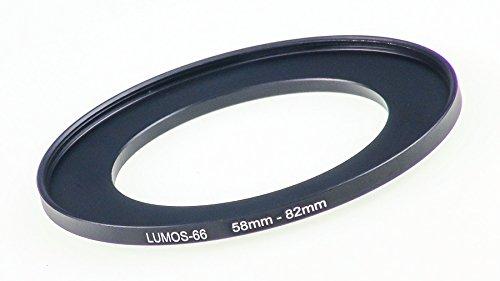 LUMOS Step up Adapter Ring Filteradapter 58-82 mm | Metall Adapterring von Kamera Objektiv mit 58mm Filtergewinde auf 82mm Zubehör Filter -