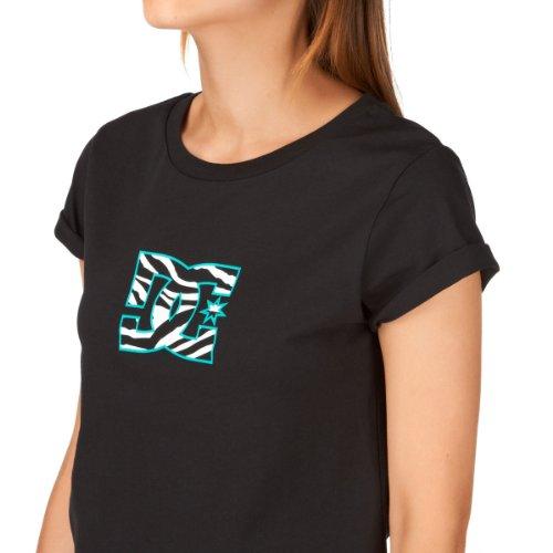 DC Zebra Logo T-Shirt - Black Noir - noir