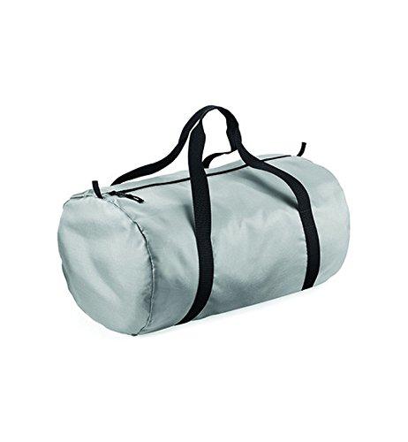 BagBase Packaway barrel bag Silver/Black