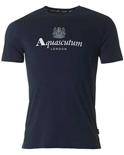 aquascutum-griffin-brand-logo-crew-neck-t-shirt-large-navy