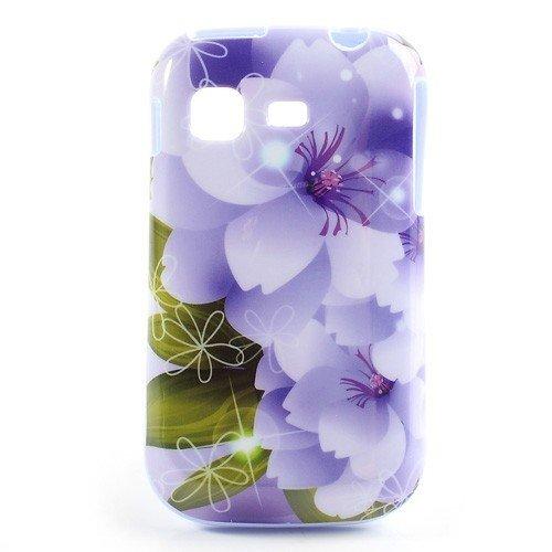 TPU Case Hülle zu Samsung Galaxy Pocket / GT-S5300 Handytasche Cool Skin Handyhülle Schutzhülle Cover Schale Tasche Blumen violett