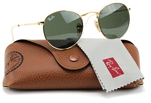 Ray-Ban RB3447 001 Round Sunglasses Arista Gold / Crystal Green Lens 50mm