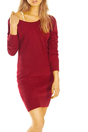 Bestyledberlin pull-over femme, robe t34z Bordeaux