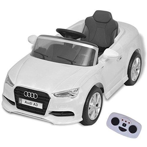 *vidaXL Kinder Elektroauto mit Fernbedienung Weiß Kinderfahrzeug Kinderauto*
