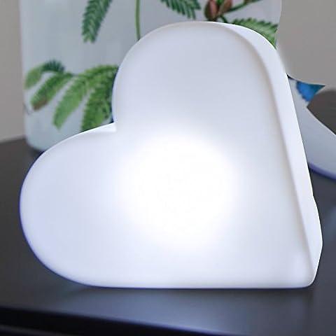 Mia Light cuore illuminato in PVC con batteria LED, lampada decorativa, Indoor