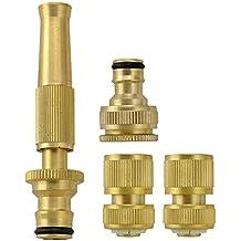 tolako resistente in ottone regolabile tubo Twist Set di pulizia ugello–Alta pressione–Include 2connettori 1rubinetto Adattatore