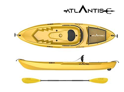 ATLANTIS Kayak - Canoa Ocean Giallo - seggiolino + ruotino + pagaia